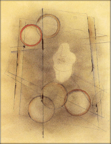Portrait of a Soul, 1934 Pencil on paper, 60 x 50 cms. Courtesy of the Galería Arvil, Mexico City