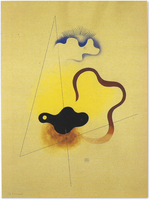 Transparency of Memory, or Dawn, 1936 Watercolor, 60 x 45 cms. Courtesy of the Galería Arvil, Mexico City