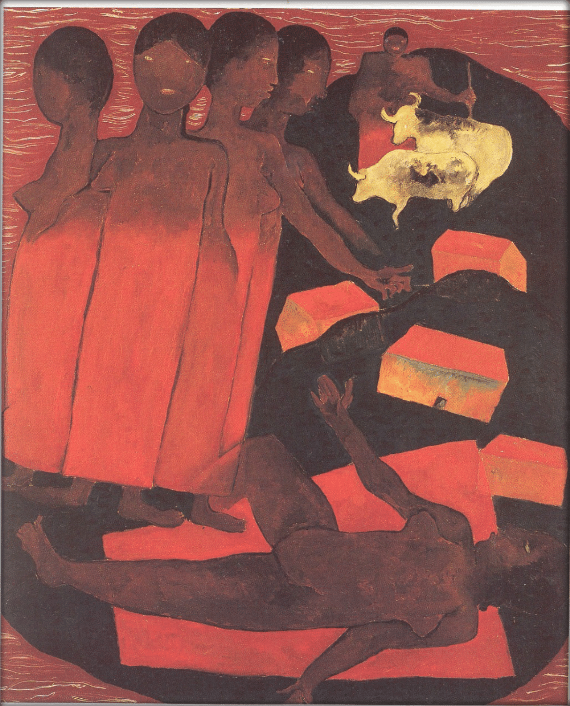 Voodoo scene, or women sleeping ,  1929 Oil on canvas ,  61 × 11 cm. Courtesy of the Galería Arvil, Mexico City