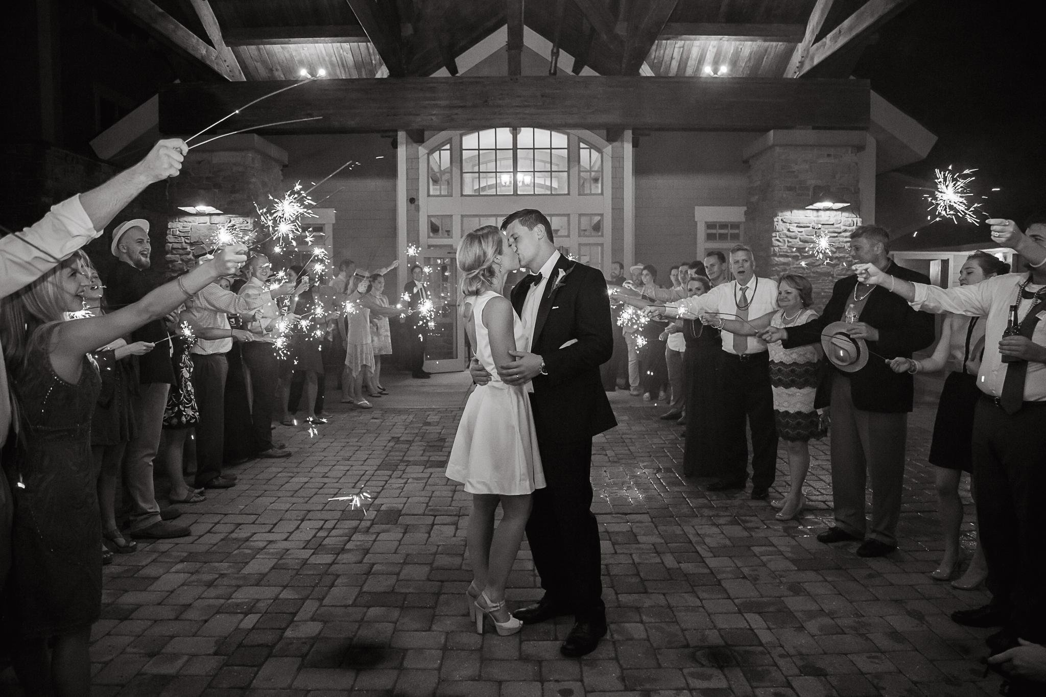 Sparkler Exit Charlotte Wedding Photographer