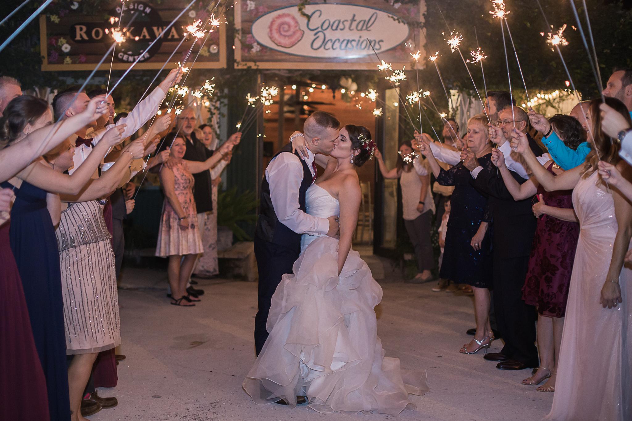Sparkler Exit Jacksonville Wedding Photographer