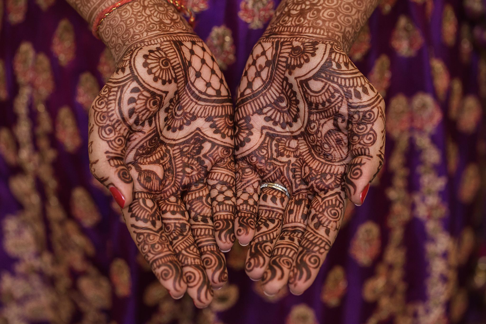 Henna Detail Charlotte Wedding Photographer