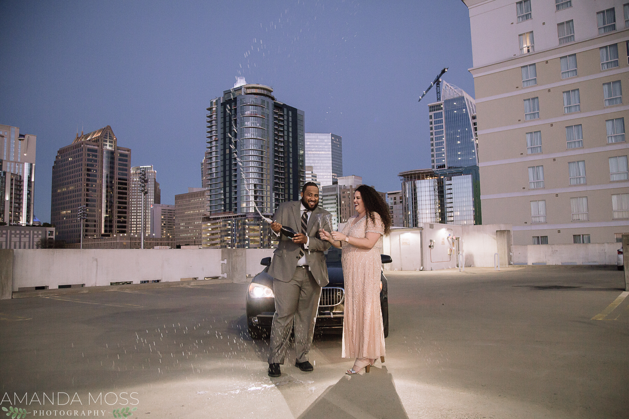 uptown charlotte engagement session