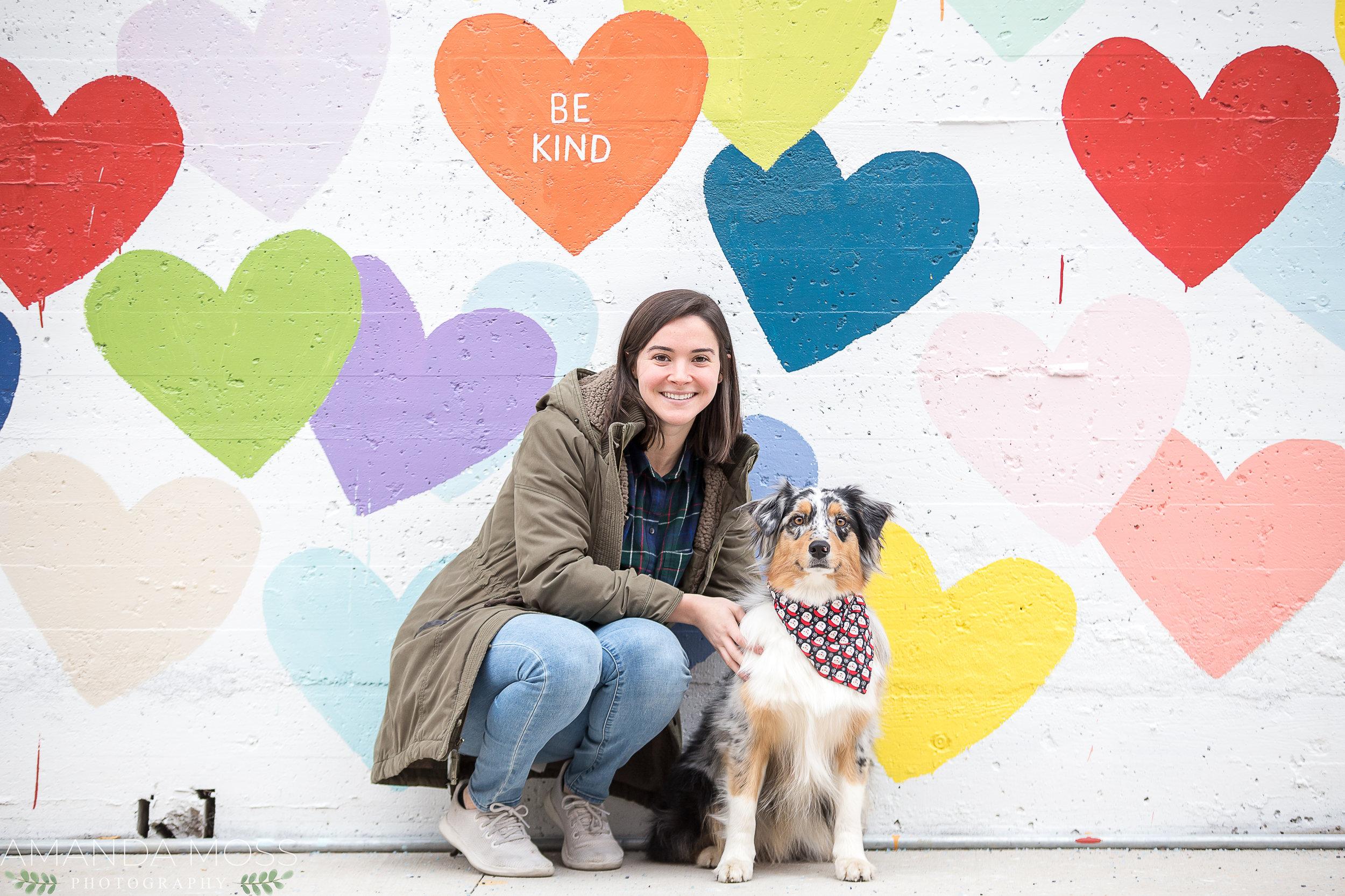 charlotte photographer wedding family portrait southend confetti hearts wall