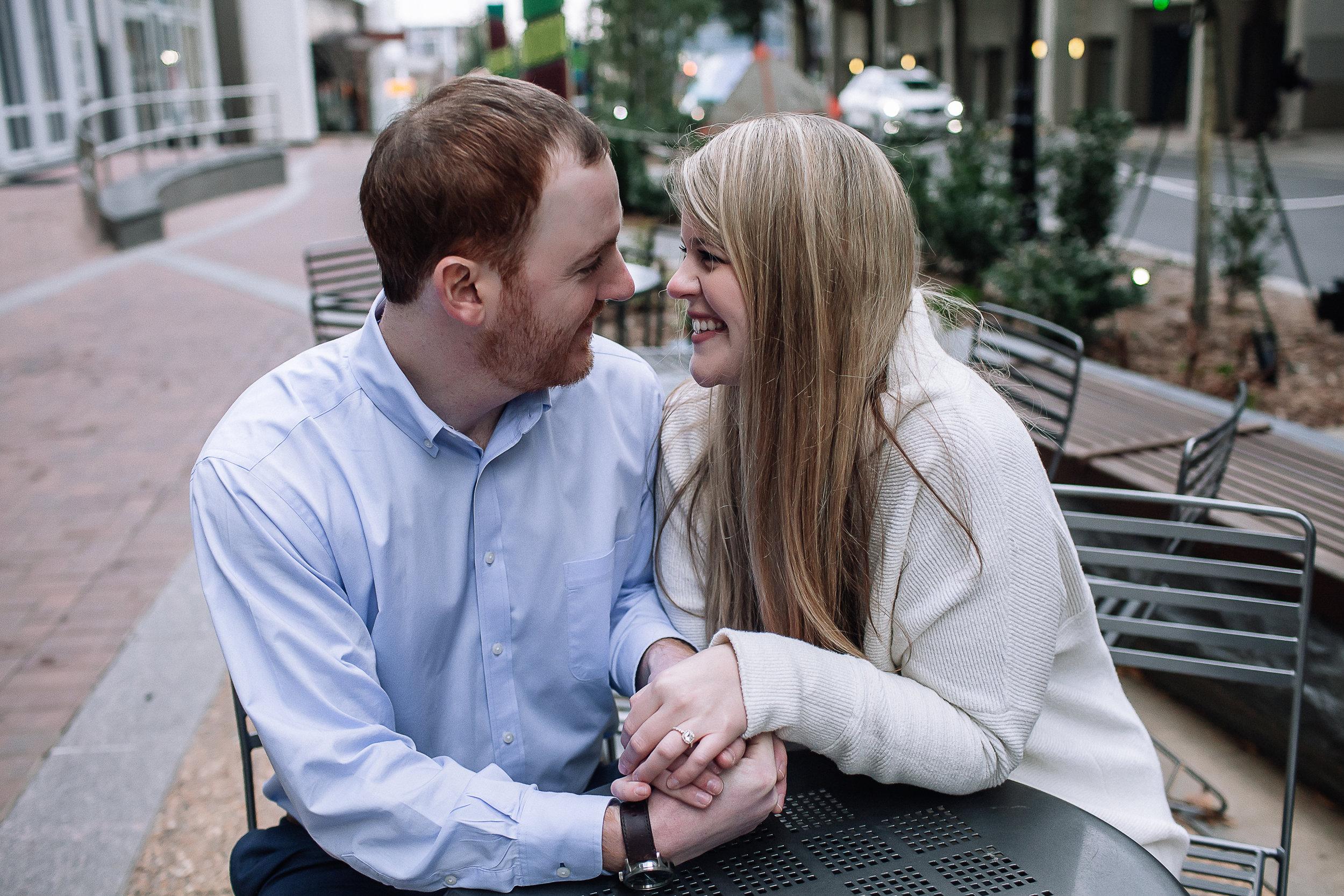 charlotte north carolina wedding photographer uptown engagement session