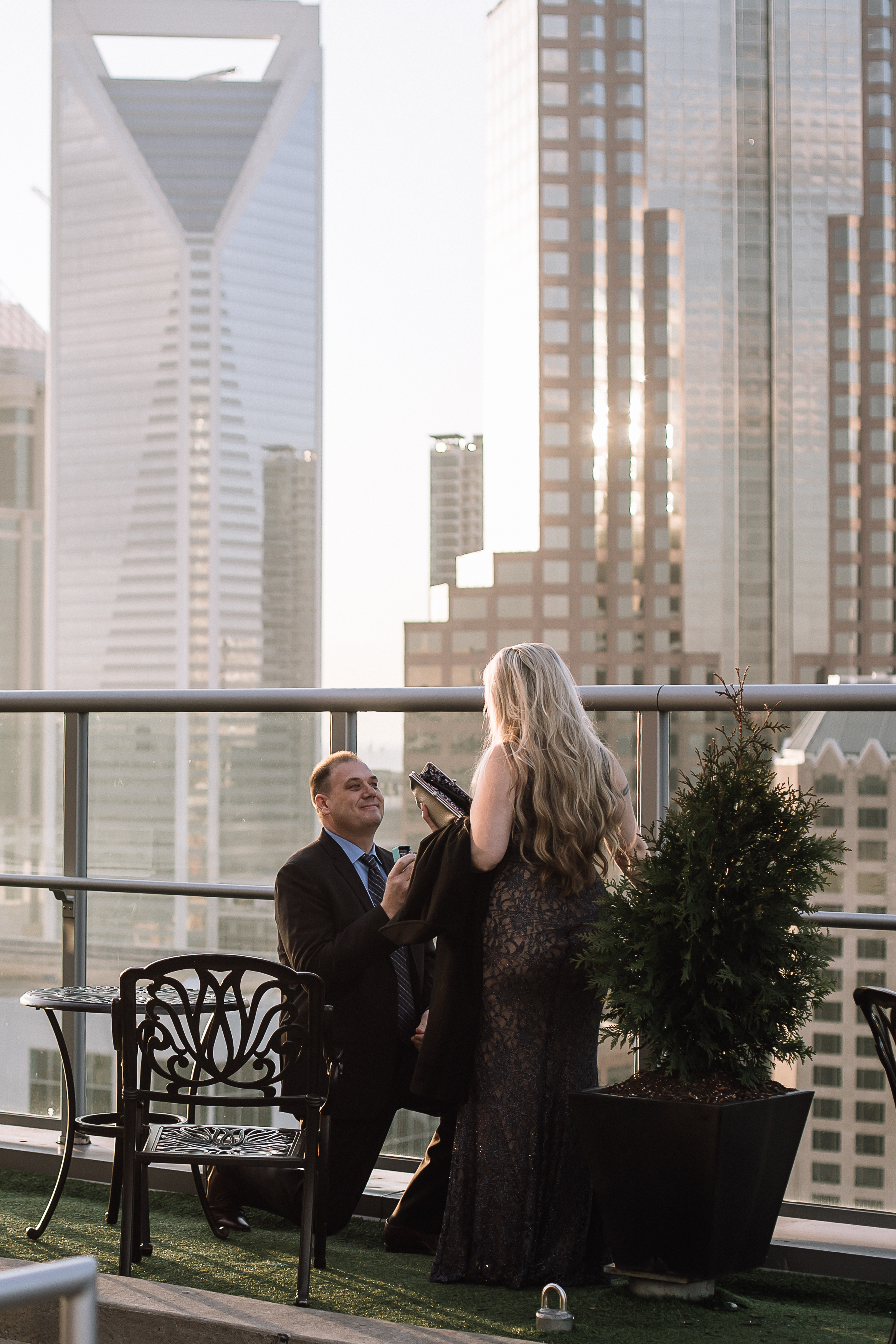 charlotte north carolina wedding photographer suprprise proposal