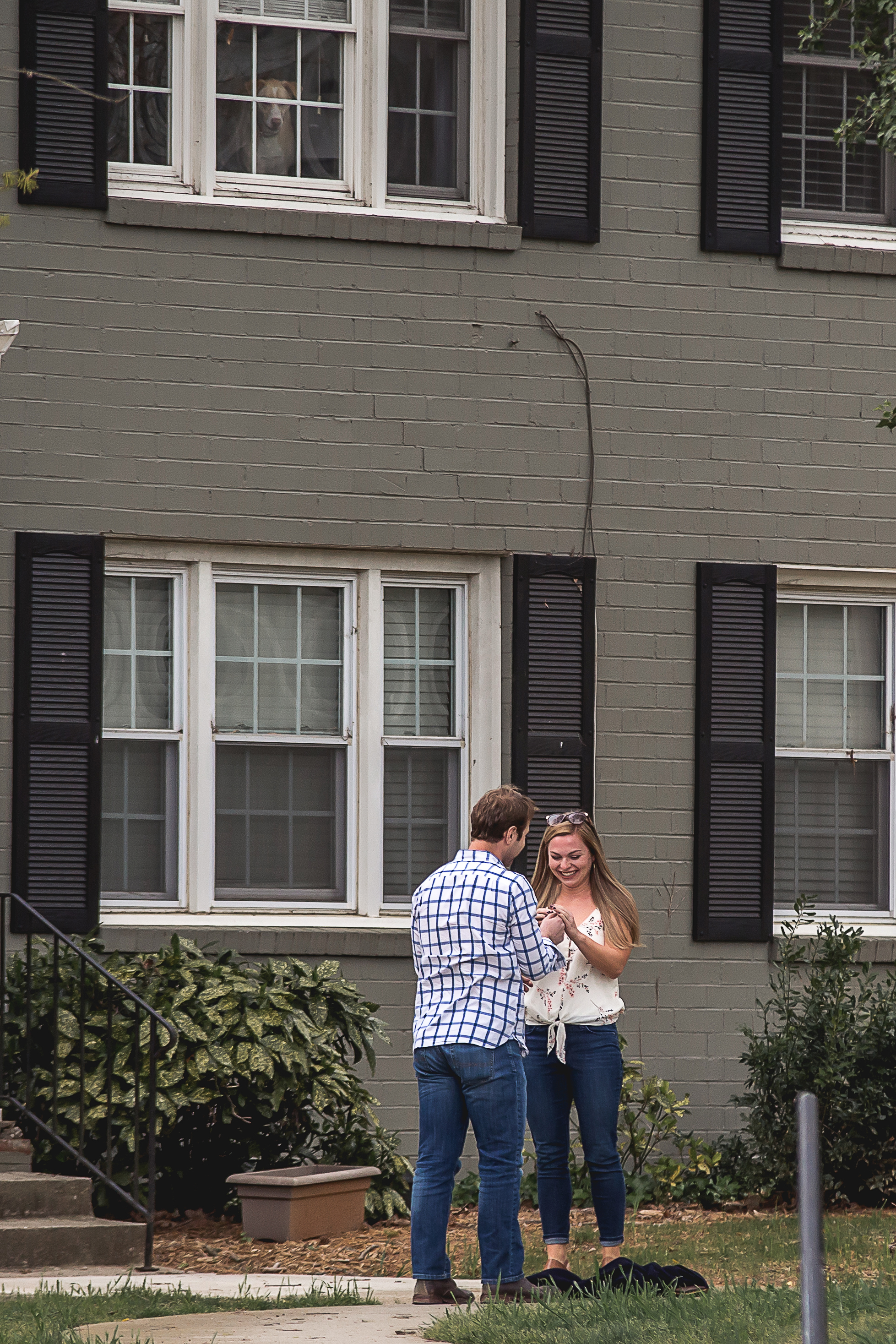 charlotte north carolina wedding photographer surprise proposal