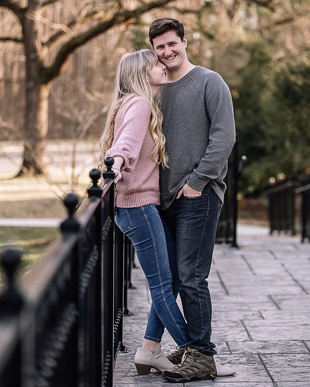 This gorgeous couple gets married next month and I cannot wait!!! There are some water elements that will be included...and I'm not gonna give away the secrets but ya might wanna stalk my page over the next couple months ;) . . . . . #engagementphotos #engaged #gettingmarried #fiance #couplegoals #bridetobe #charlotteweddingphotographer #amandamossphotography #northcarolinaphotographer #weddingphotographer #wildhairandhappyhearts #radlovestories #lovers #lovemeforever #youremyperson #iloveyou #marryme #tanglewoodpark #follow #naturallight #memoriesmade #momentslikethese