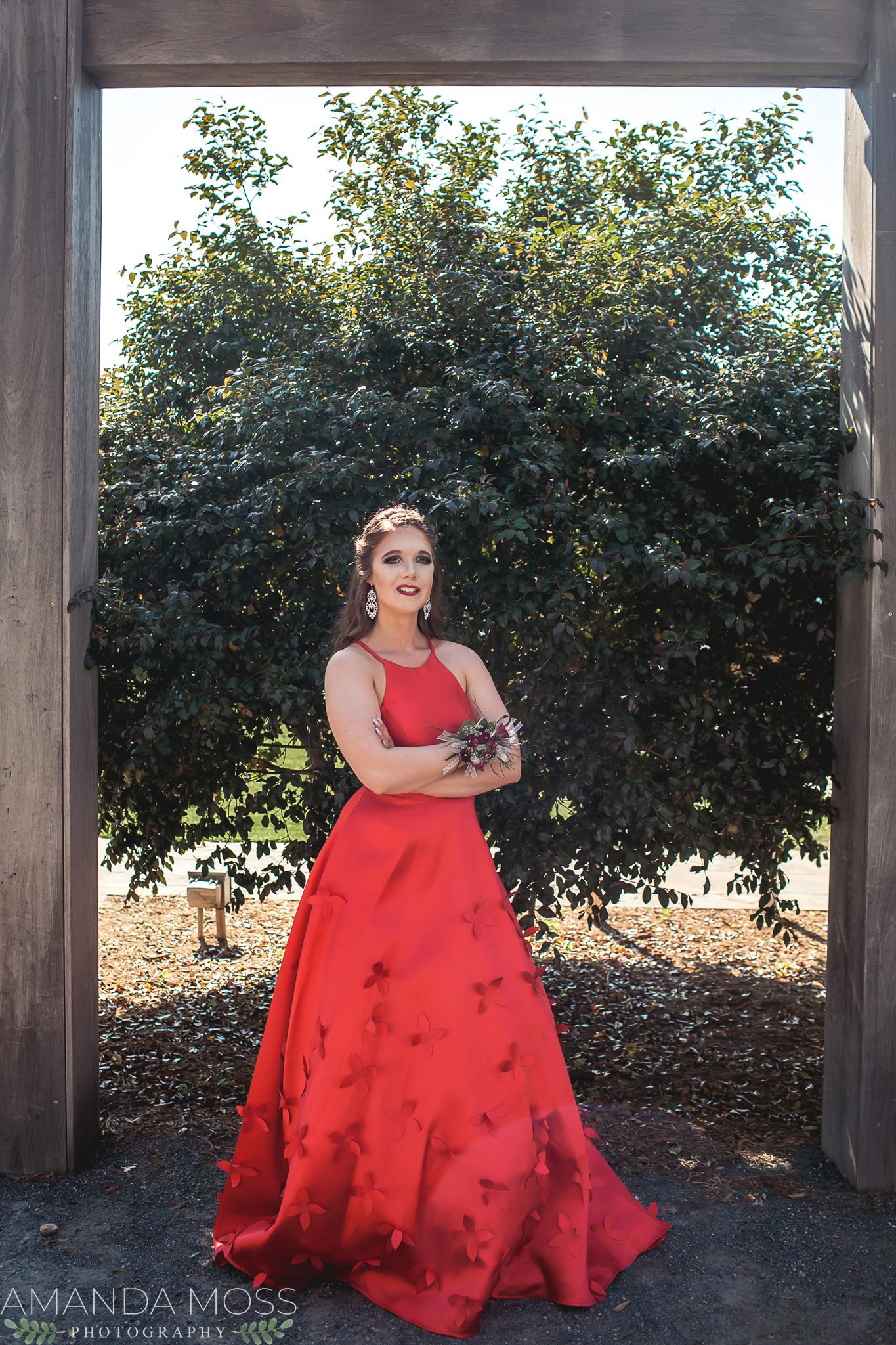 charlotte north carolina portrait photographer prom session midtown park spring