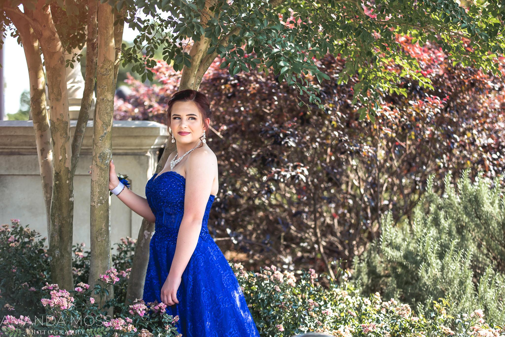 charlotte north carolina portrait photographer prom session midtown park skyline