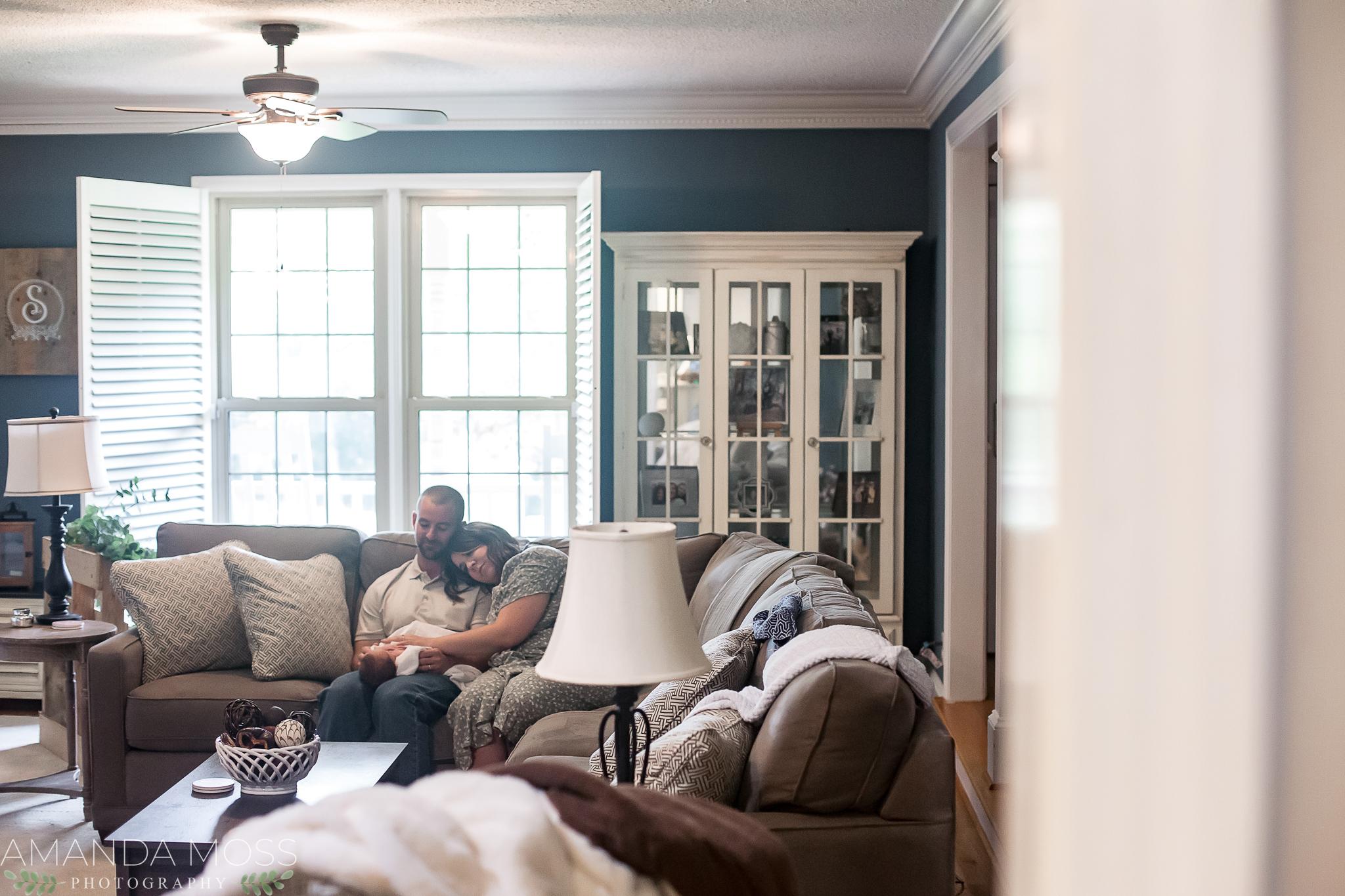 charlotte north carolina at home documentary lifestyle newborn photographer