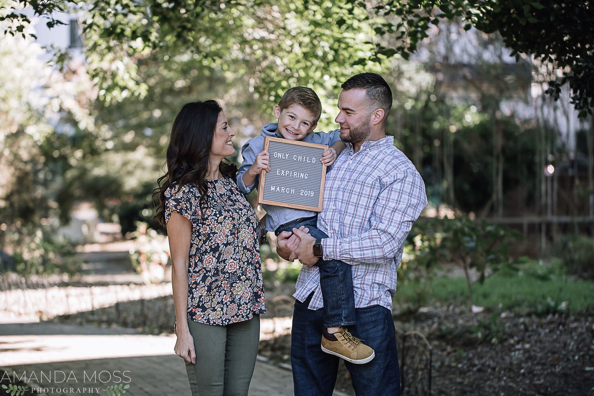charlotte north carolina family photographer fourth ward park