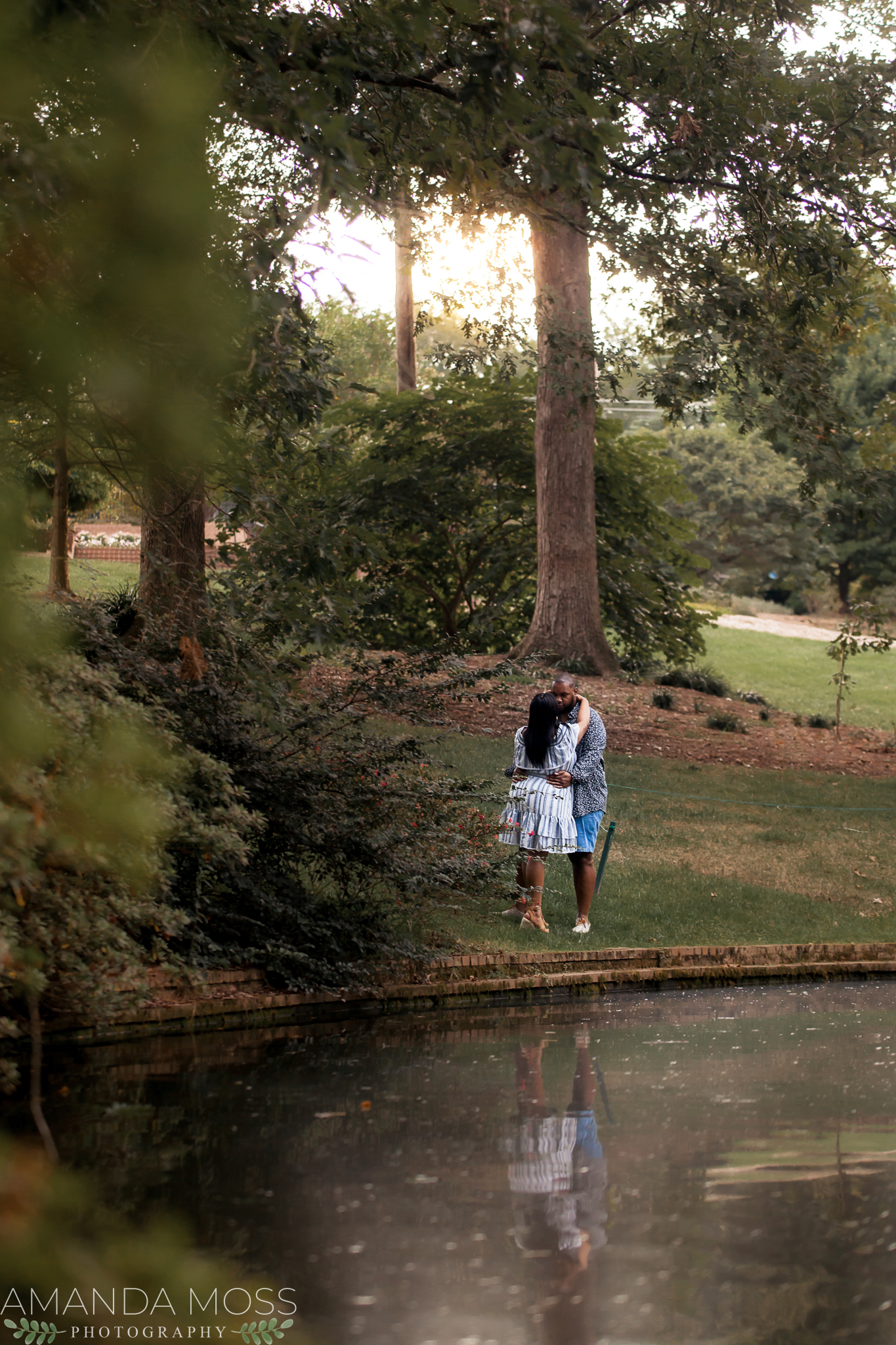 charlotte north carolina wedding photographer african american engagement session glencairn gardens rock hill