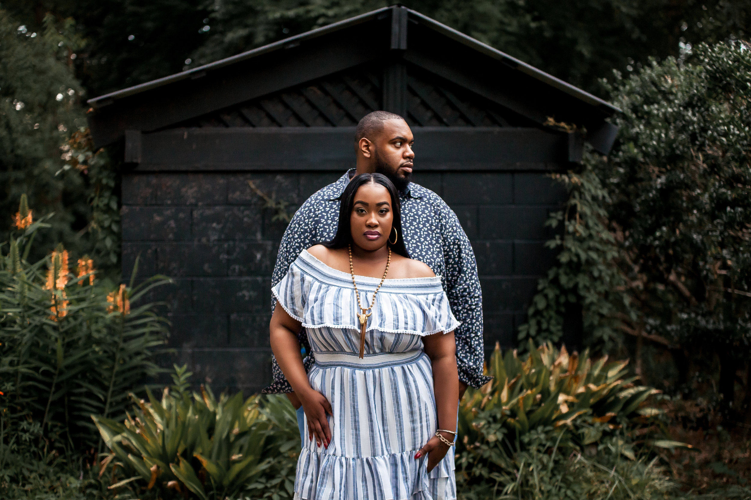 charlotte north carolina wedding photographers engagement session african american