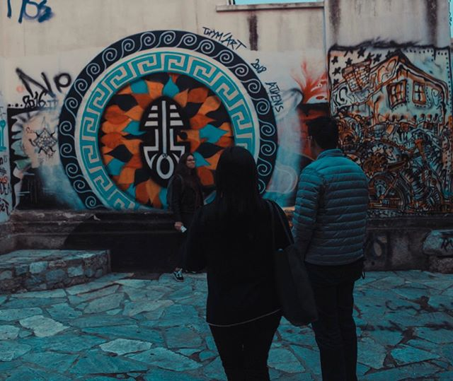 They say Athens is the new Berlin! Any idea why?😜 . . . . #athens #walkingtour #travel #greece #streetart #graffiti #tour #night #travelinspiration #photooftheday #people #bestoftheday #traveling #travelgram #instago