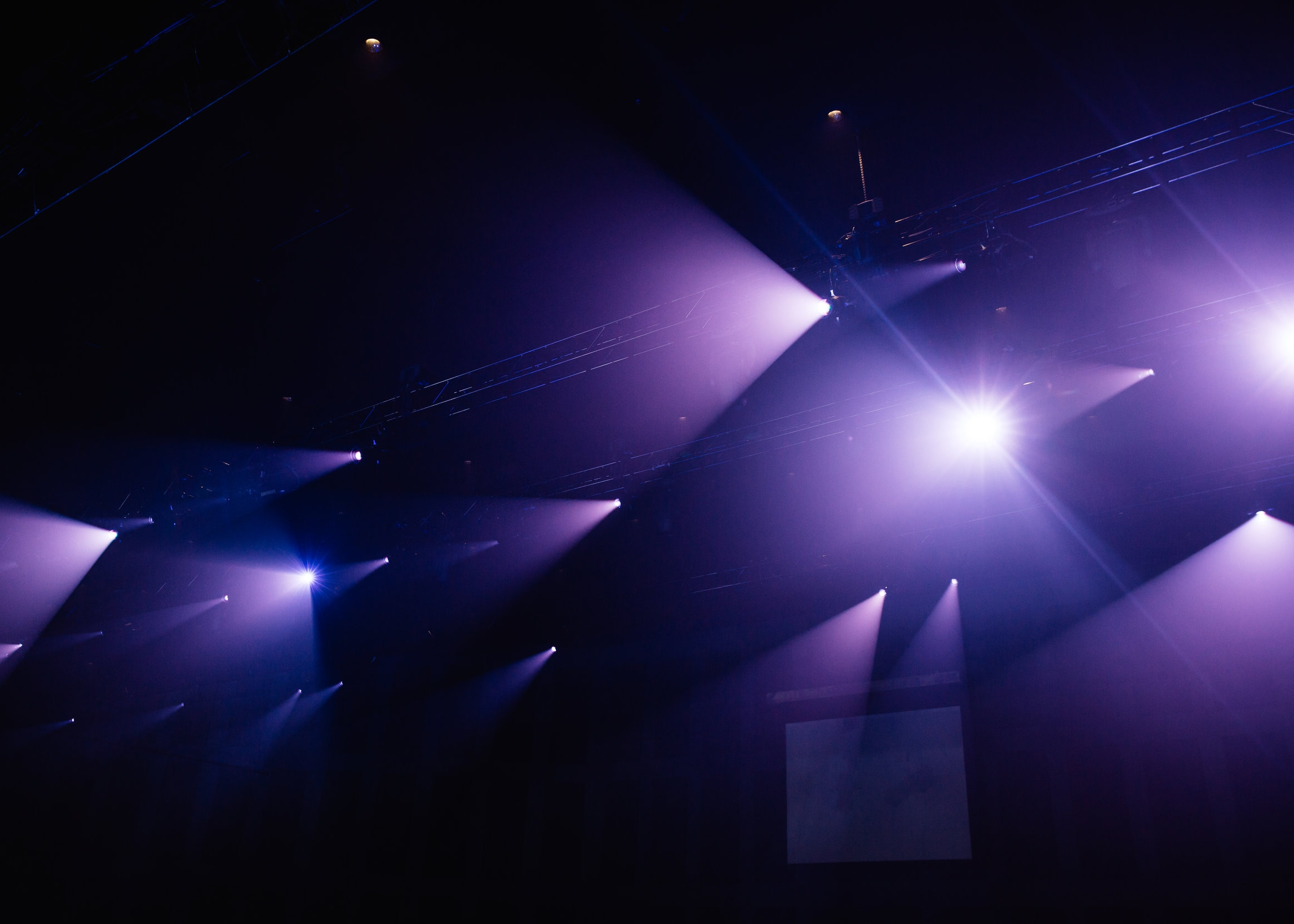 Lighting - Each room is different, and each application is different, however the process is the same. When providing key lighting (front wash lighting), it is very important to get complete coverage of each position on stage. This typically requires a three point focus at each position (L,C,R). It also may require multiple layers of lighting to have a uniform wash from upstage to downstage. This ensures that every lighting fixture quoted has a specific purpose.