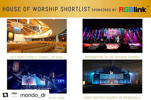 In case you missed the best announcement of the week.... @rttnchurch has been shortlisted for the @mondo_dr Awards in the House of Worship category!