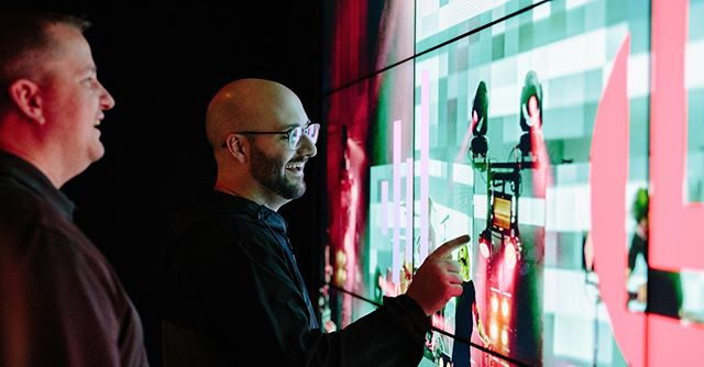 We provide solutions for all environments. From concept, to design, product selection, installation, and training, we are experts in execution and creation of immersive technological experiences for any audience.  Touch screen video walls are like the new tablets for your space...only bigger and better. This multi-touch video wall can process up to 6 touch points simultaneously! Visit our website today to learn more. #LinkInBio
