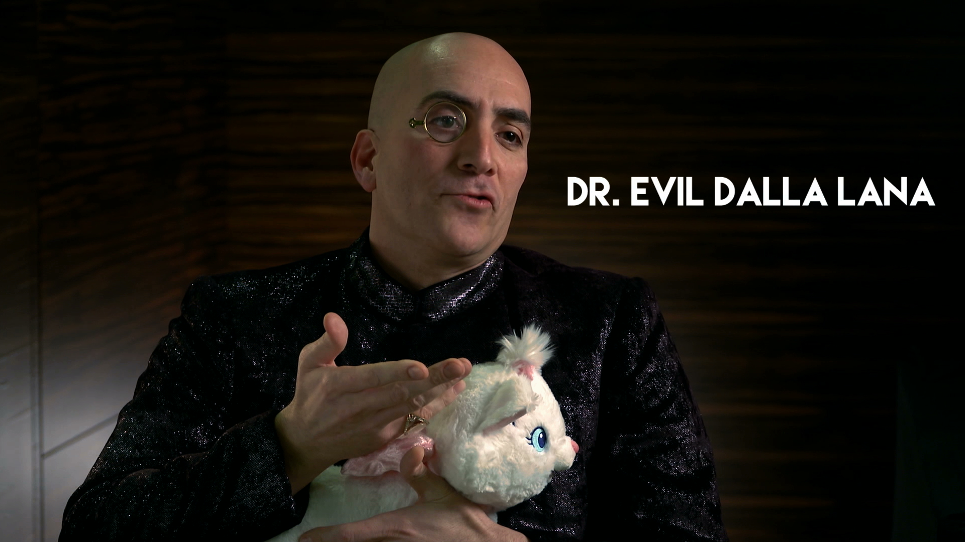 Birthday video wasn't complete without a visit by Dr. Evil.