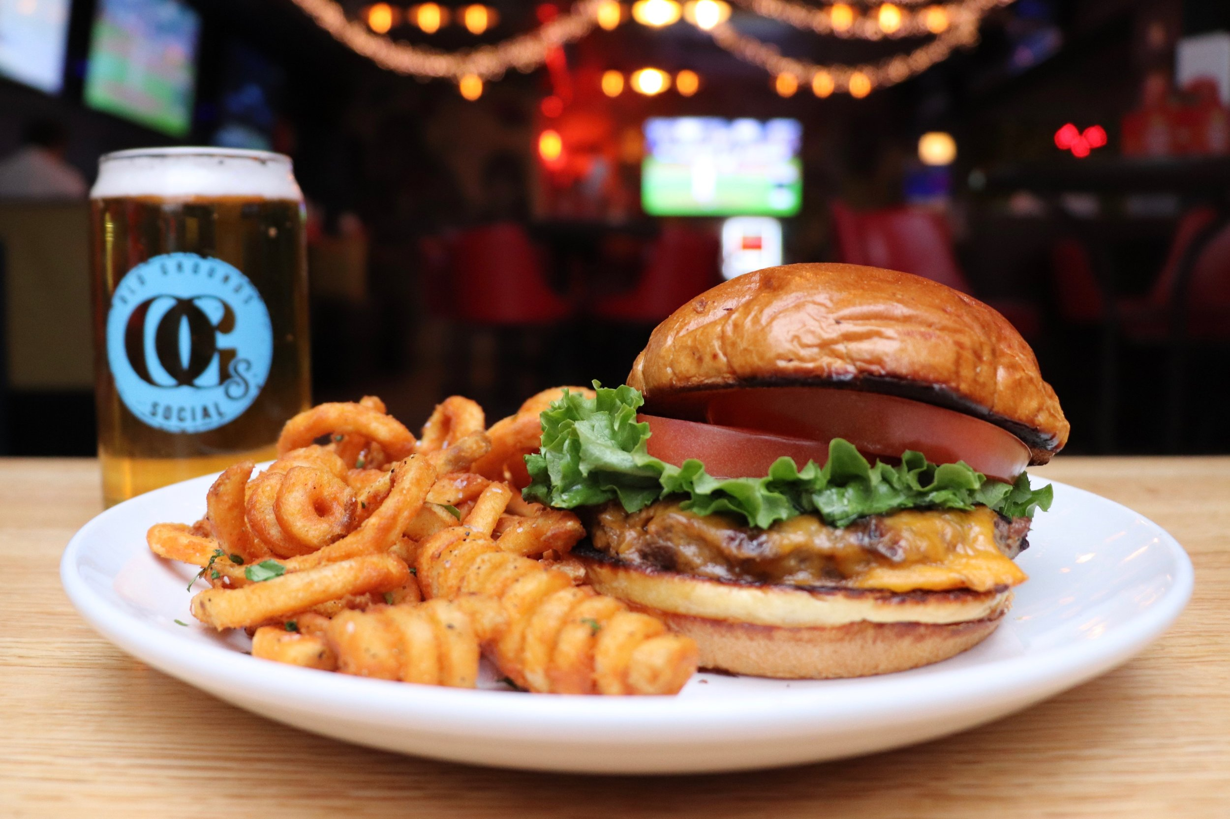 Friday Happy Hour - Burger + Fries + Bottomless Domestics or Wells - 4-7pm