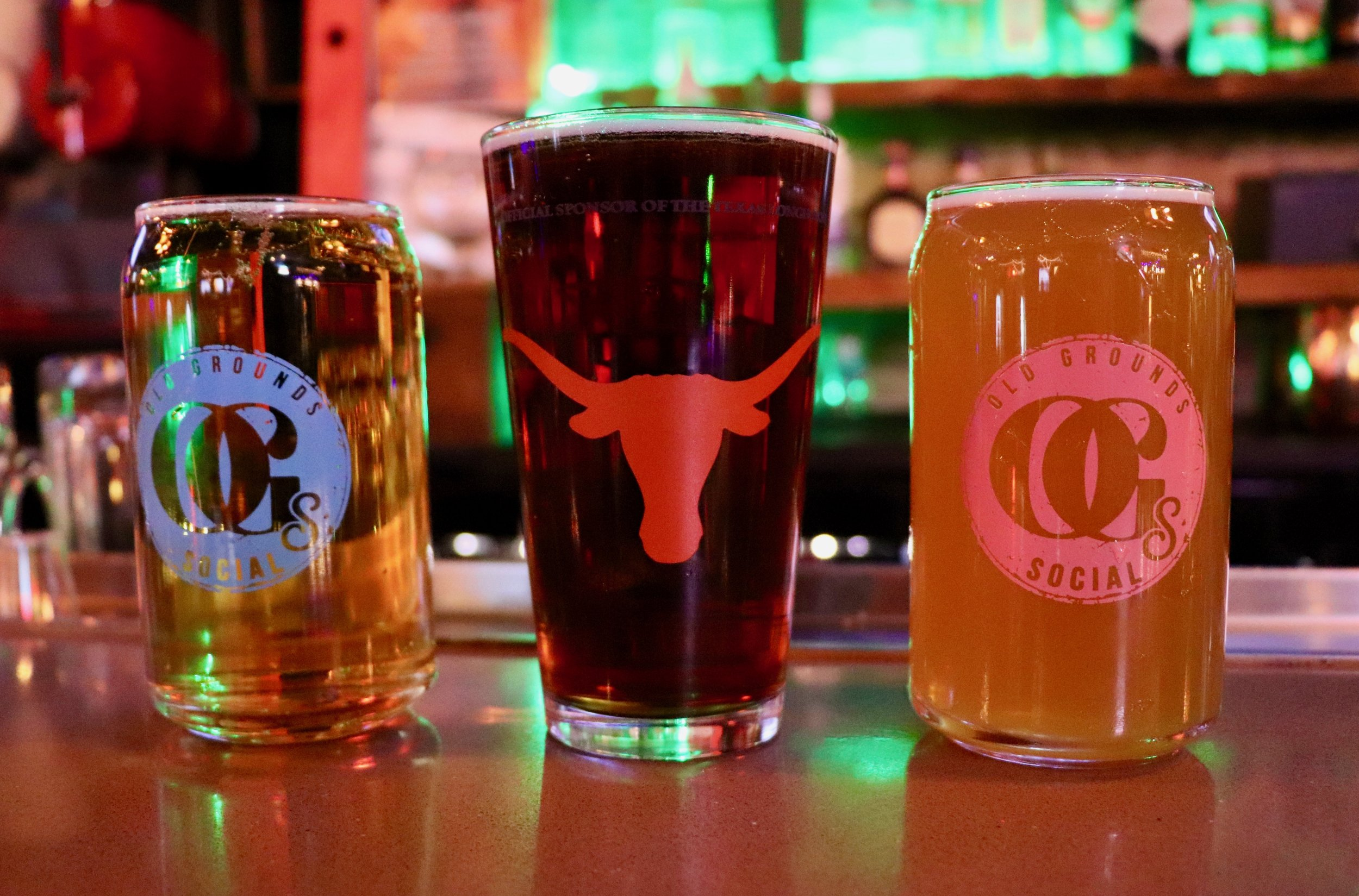 Saturday Texas games  $10 Light the Tower Orange (Tito's and Orange Red Bull) | $8 Texas Tea | $8 Okay Cool, Hook'em Bomb (Deep Eddy & Red Bull) | $5 Shiner Bock | $4 Lone star | $4 Miller Lite draft