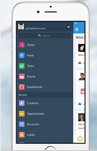 Sharp Electronics salespeople use the Salesforce mobile app as well as via their laptops.