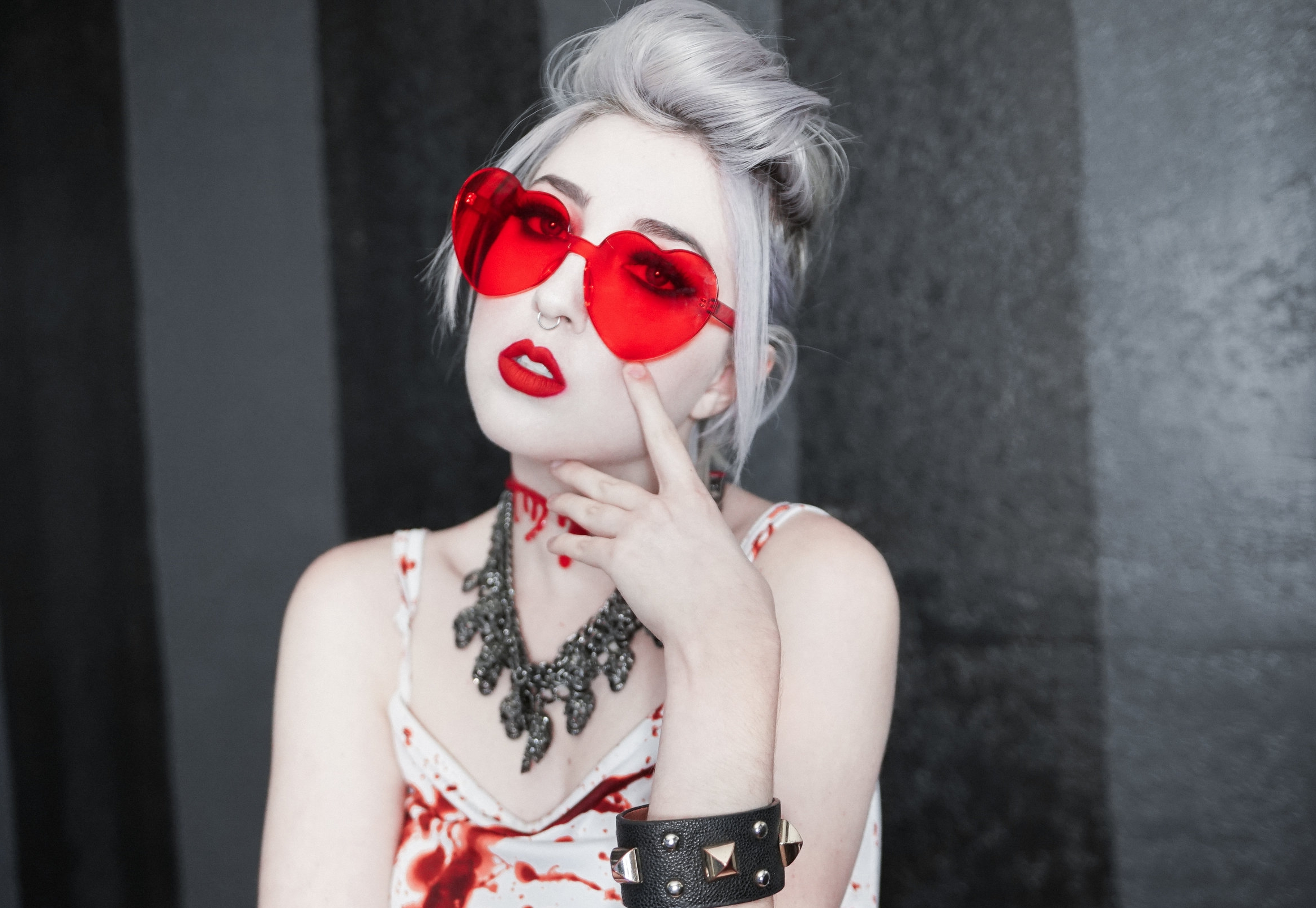 Heart glasses from  Foxblood