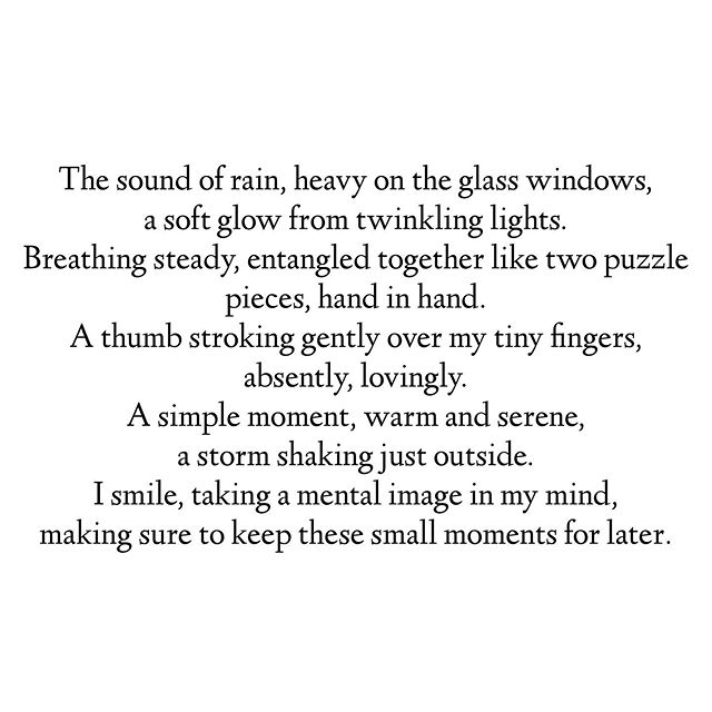 Why is rain in everything I write?