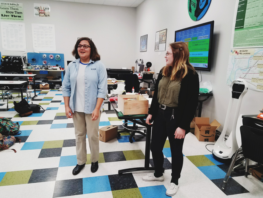 Students at STEM School Chattanooga in the school's    FabLab   , which provides students with the resources to fully design, prototype, and test products for their projects.