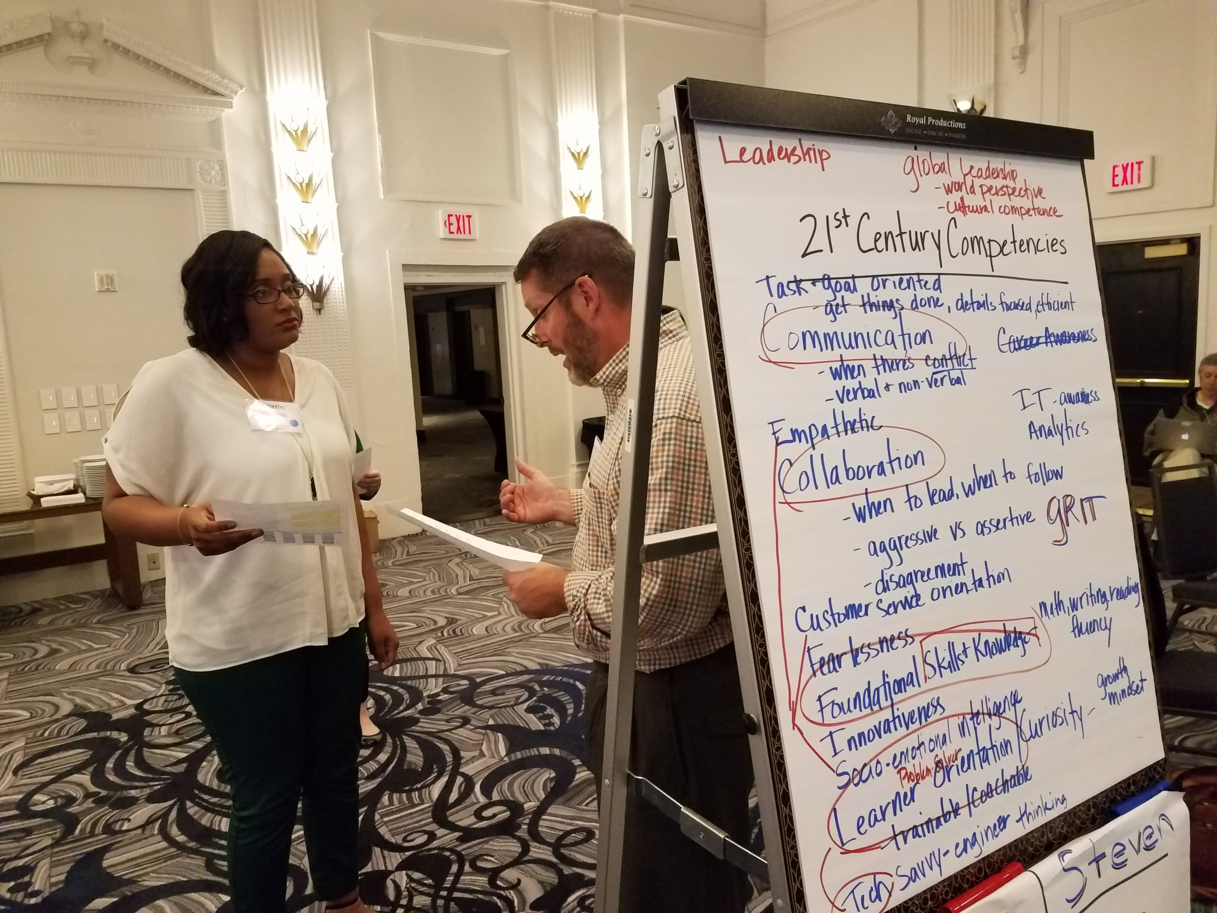 Cain works with America Achieves colleague Kristin Hollins to explore and define in-demand 21st century competencies.