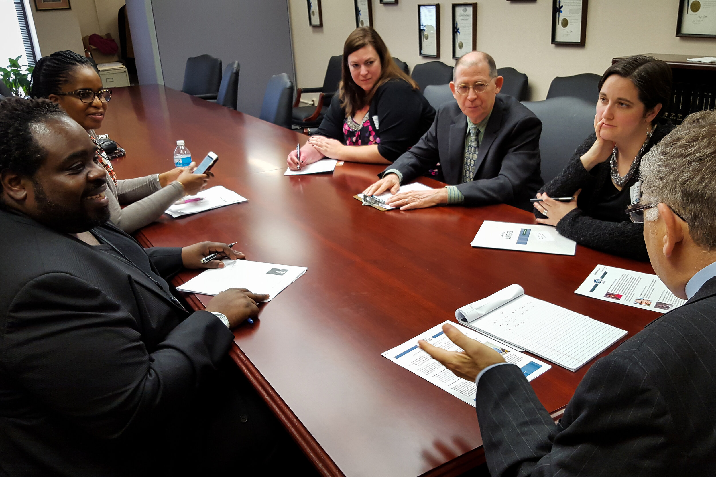 New York Policy Fellows met with a state legislator in Albany to advocate for their schools and students.