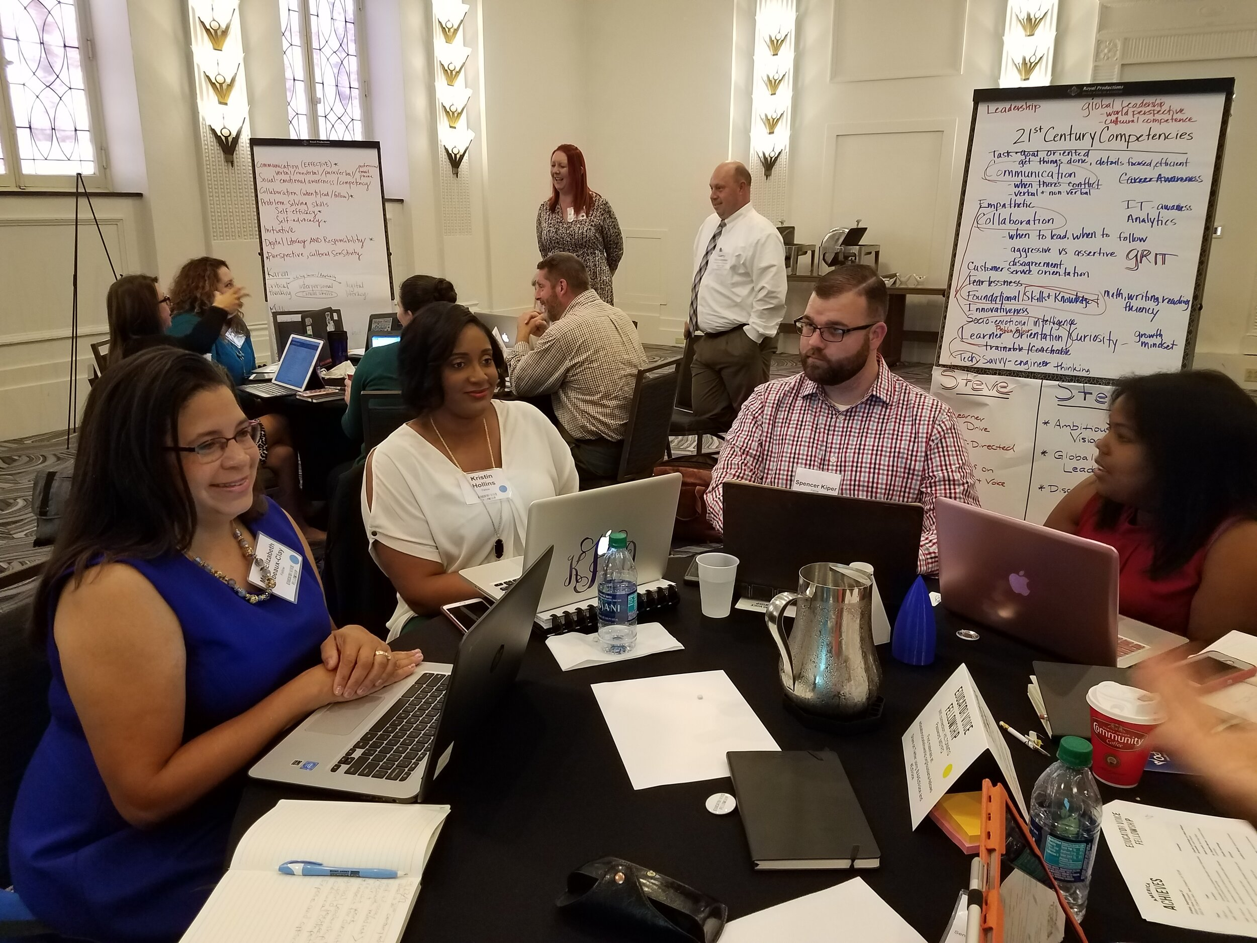 Louisiana Fellows work to define 21st century competencies as part of the  Quest for Success  development work.