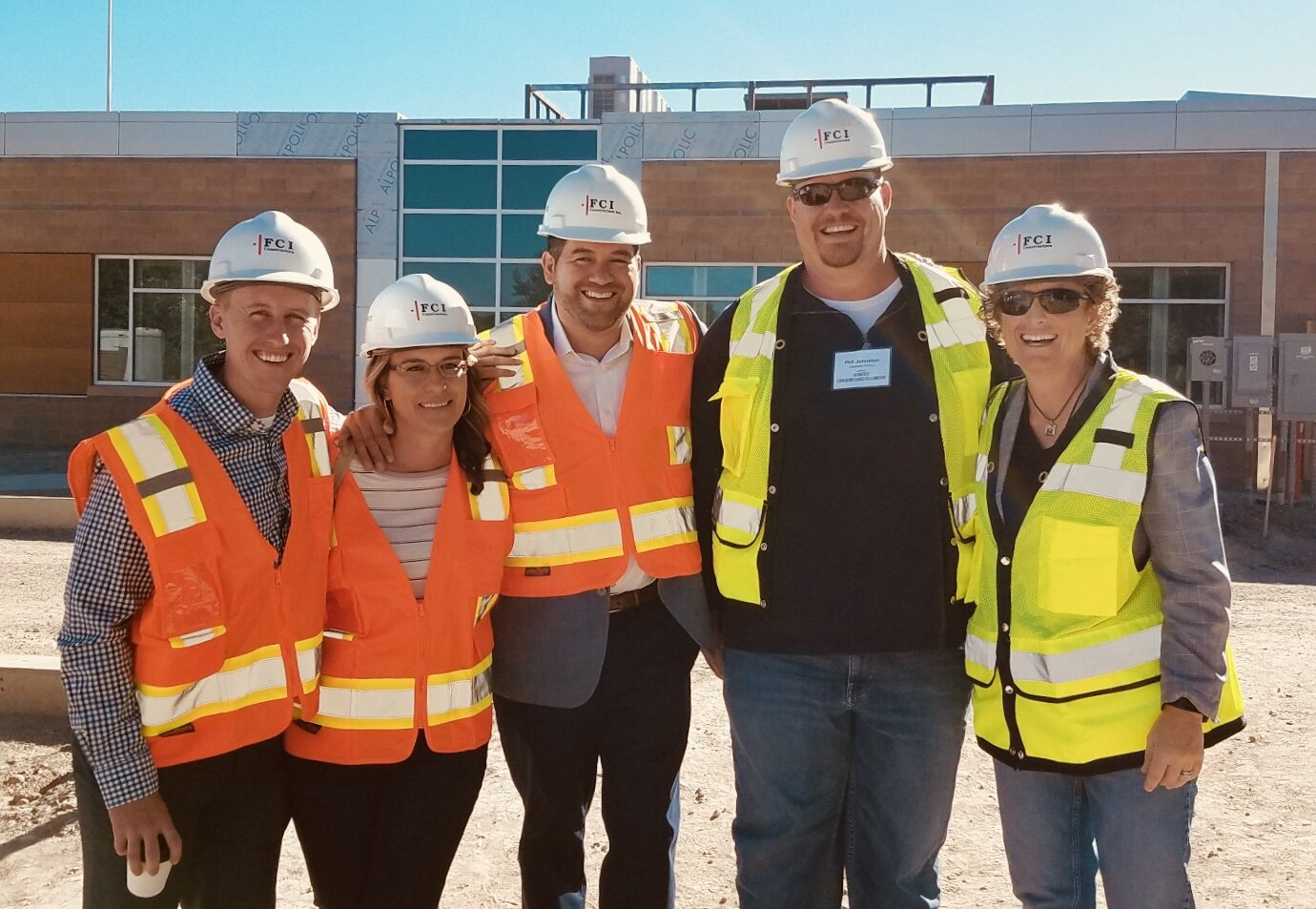 Fellows in Colorado participate in a construction site visit to learn more about the industry and the skills required.