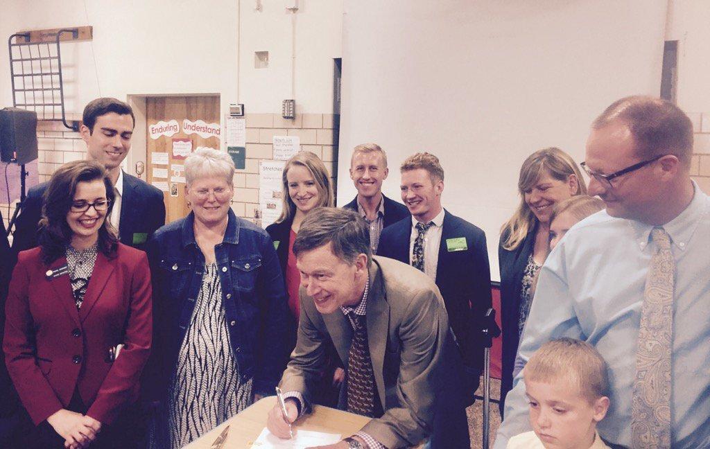 Menardi and Buller celebrate the signing of the STEM Diploma Endorsement.
