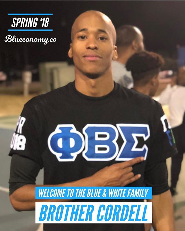 Congratulations Brother Cordell on joining the Blue family SPR '18! 🤘🏽💙🕊 @_four_play_ . Tag and comment your SPR '13 Zeta and Sigma Sandz and Neos so we can congratulate them! . In honor of all brothers and sisters who crossed SPR '18, we are gifting 2 months free Blueconomy memberships to all neos who crossed this semester. DM us for more details. —- @blueconomy was created to help our blue & white family collaborate in a way we never have before. We help you stay updated on events, find and connect with brothers and sisters around the world, and support economic growth within our community. . We're building an economy that will empower thousands of women and men generations to come. Similar to how those who came before us built something to empower us. . If you believe in our mission, share with members of the blue & white family. 🤘🏽💙🕊