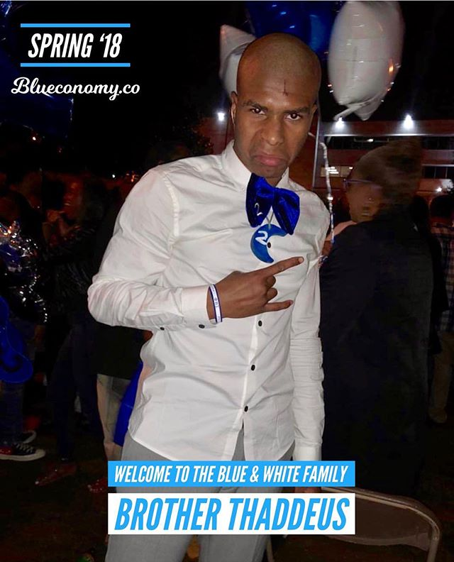 Congratulations Brother Thaddeus on joining the blue & white family Spring '18! 🤘🏽💙🕊 @thelostidea . Tag and comment your FALL '17 / SPR '18 Zeta and Sigma Sandz and Neos so we can congratulate them! . In honor of all brothers and sisters who crossed FALL '17 /bSPR '18, we are gifting 2 months free Blueconomy memberships to all neos who recently joined our family. DM us for more details. —- @blueconomy was created to help our blue & white family collaborate in a way we never have before. We help you stay updated on events, find and connect with brothers and sisters around the world, and support economic growth within our community. . We're building an economy that will empower thousands of women and men generations to come. Similar to how those who came before us built something to empower us. . If you believe in our mission, share with members of the blue & white family. 🤘🏽💙🕊