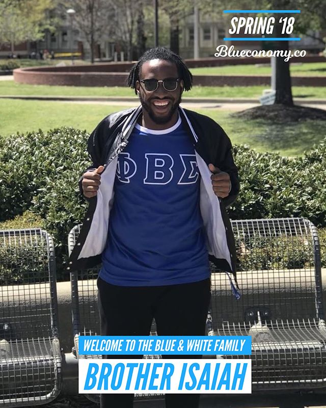 Congratulations Brother Isaiah on joining the blue & white family Spring '18! 🤘🏽💙🕊 @obeey_royalty_ . Tag and comment your FALL '17 / SPR '18 Zeta and Sigma Sandz and Neos so we can congratulate them! . Get your free Blueconomy membership at Blueconomy.co —- @blueconomy was created to help our blue & white family collaborate in a way we never have before. Our app helps you stay updated on events, find and connect with brothers and sisters around the world, and support economic growth within our community. . More importantly, we are building a circular economy to economically empower generations of our sisters, brothers and families. . If you believe in our mission, share with members of the blue & white family. 🤘🏽💙🕊