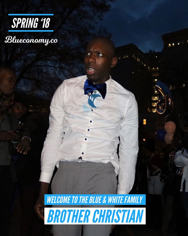 Congratulations Brother Christian on joining the blue & white family Spring '18! 🤘🏽💙🕊 @whocj . Tag and comment your FALL '17 / SPR '18 Zeta and Sigma Sandz and Neos so we can congratulate them! . Get your free Blueconomy membership at Blueconomy.co —- @blueconomy was created to help our blue & white family collaborate in a way we never have before. Our app helps you stay updated on events, find and connect with brothers and sisters around the world, and support economic growth within our community. . More importantly, we are building a circular economy to economically empower generations of our sisters, brothers and families. . If you believe in our mission, share with members of the blue & white family. 🤘🏽💙🕊