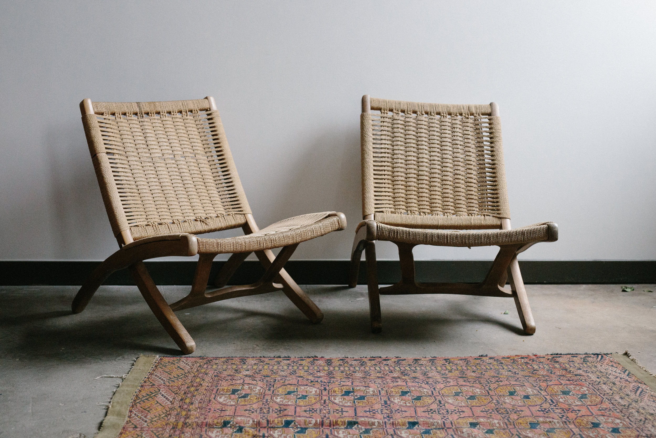WOVEN FOLDING CHAIRS // $30 EACH  2 available