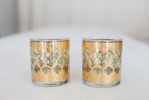 SET OF 2 INDIA BAR GLASSES // $8