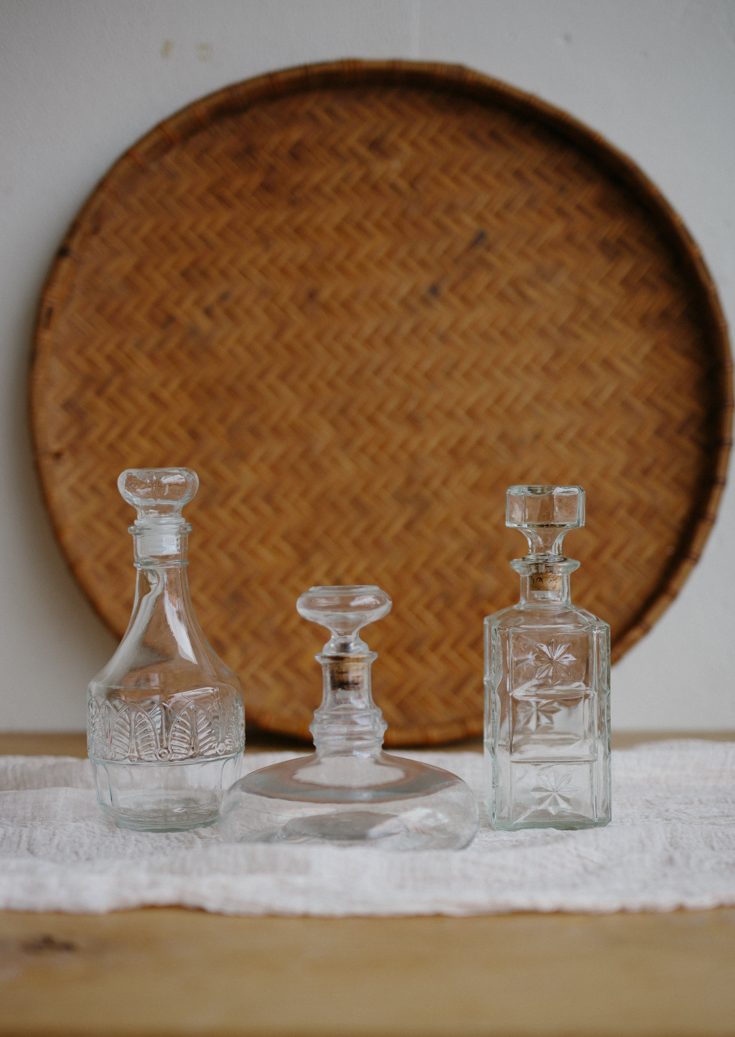 GLASS DECANTERS // $6 EACH
