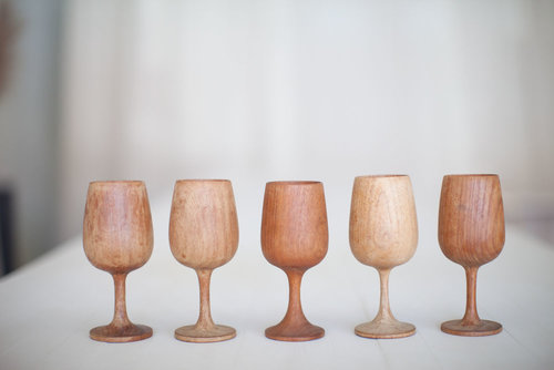 WOODEN GOBLETS // $3 EACH