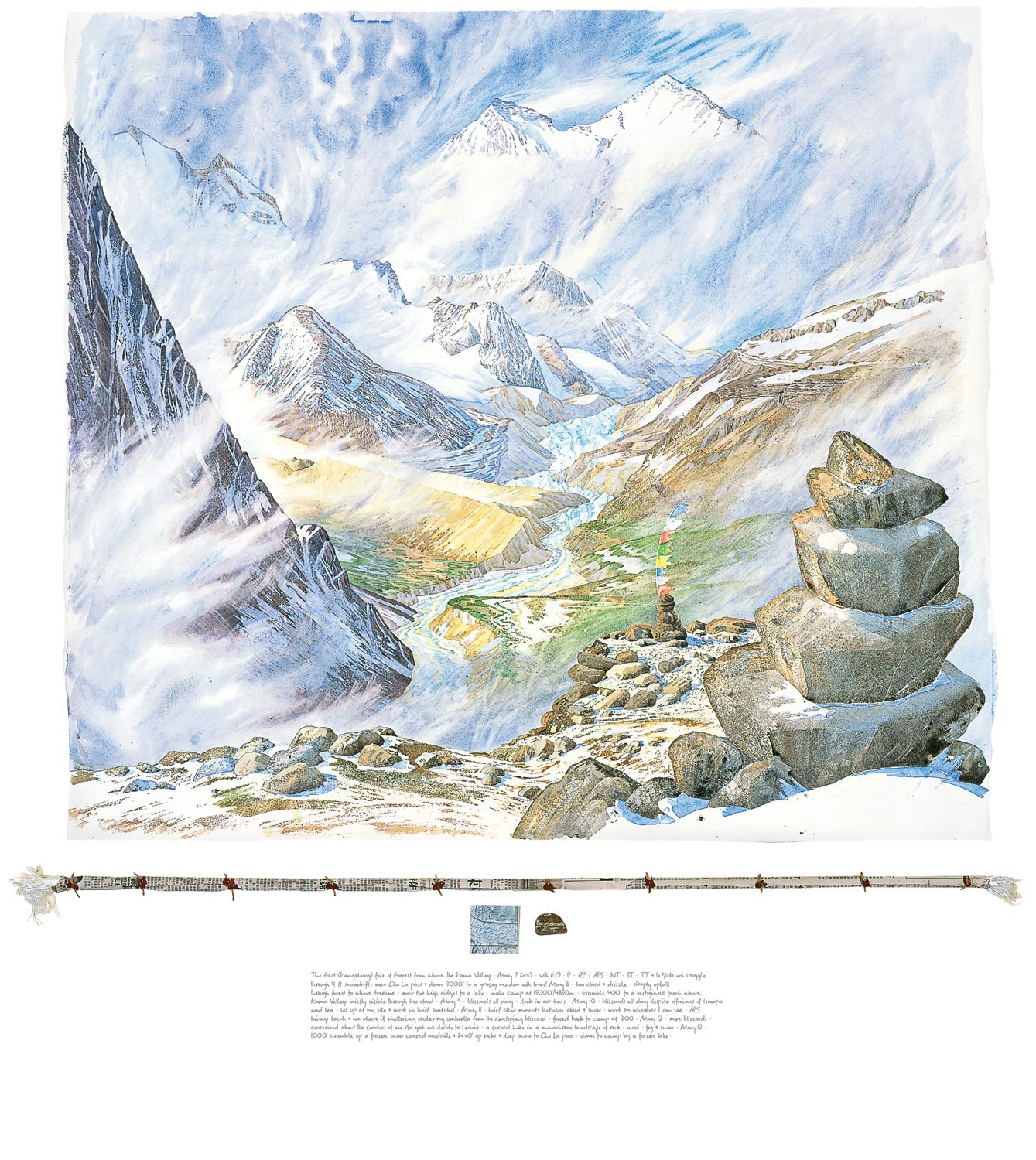 Tony Foster ,  The East (Kangshung) Face of Everest from above the Kama Valley , 2007