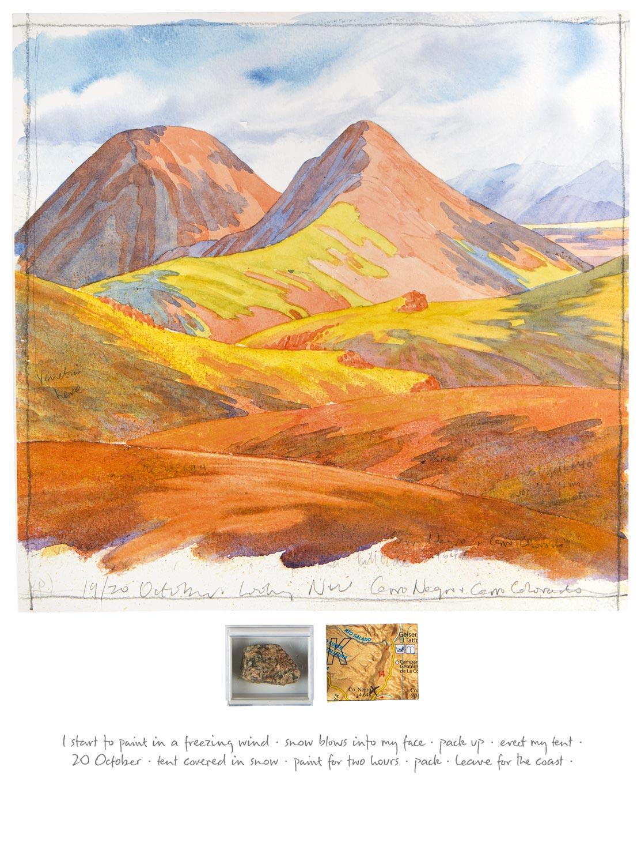 Tony Foster ,  19/20 October 2015—Looking NW to Cerro Negro , 2015