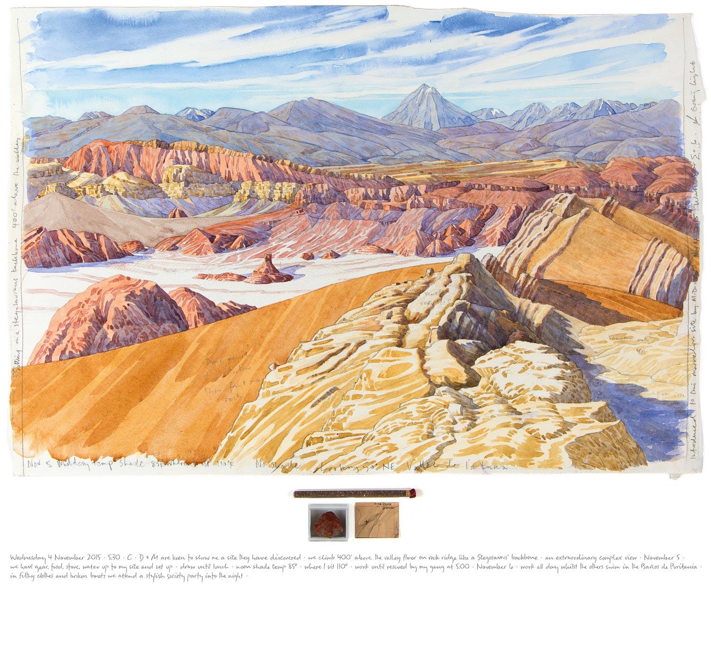 Tony Foster ,  Atacama Desert—Valle de la Luna—Above Duna Grande Looking 50° NE , 2015