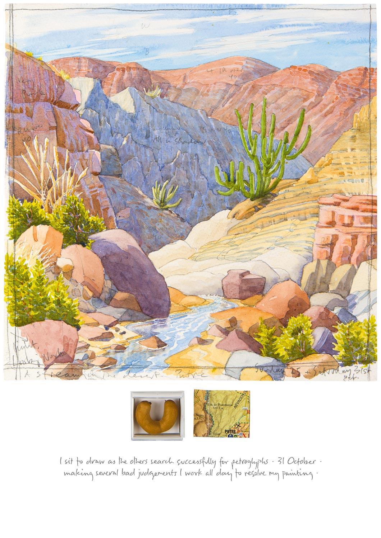 Tony Foster ,  25 & 31 October—A Stream in the Desert, Putre , 2015