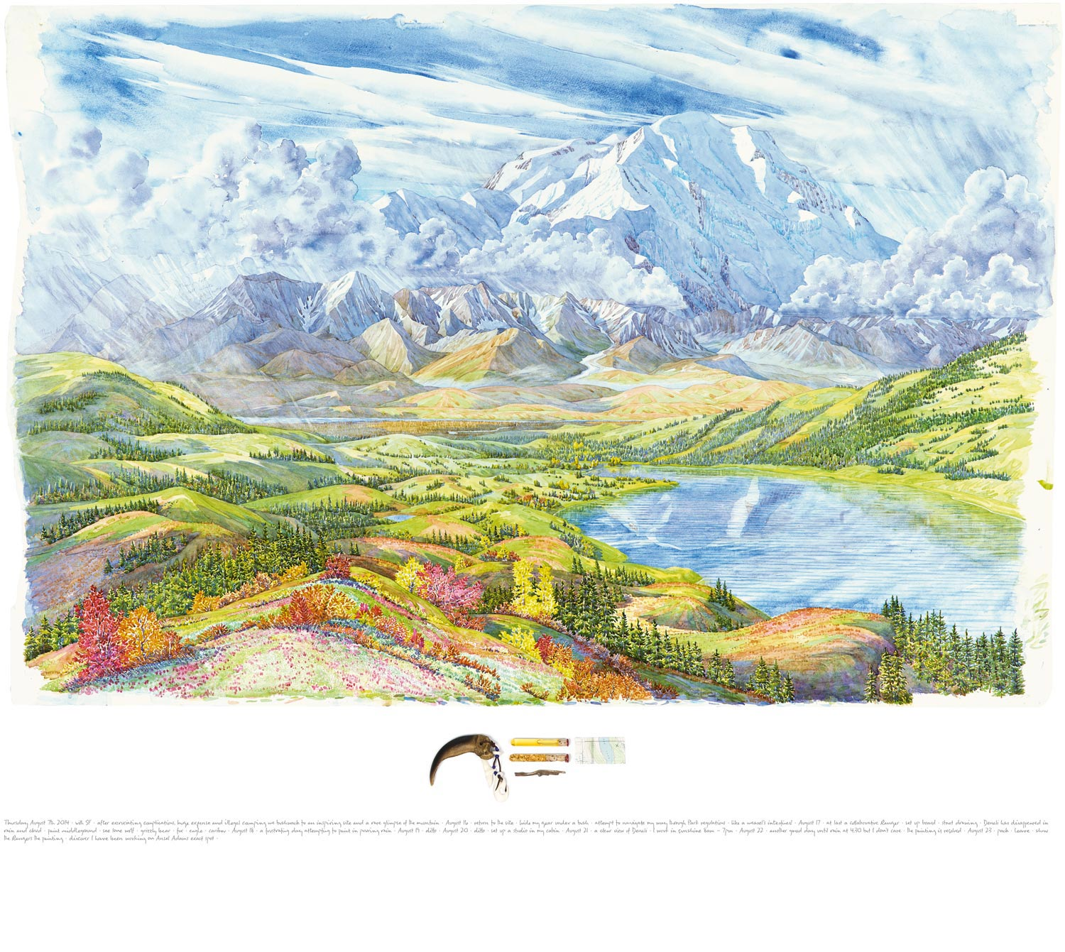 Tony Foster ,  Denali and Wonder Lake Looking South from Ansel Adams Point , 2014