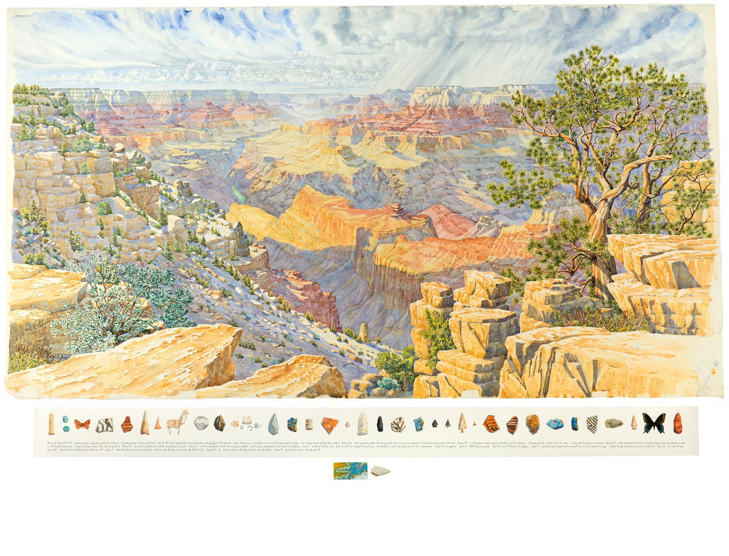 Tony Foster ,  Twenty-Three Days Painting the Canyon—From West of Navajo Point , 2013