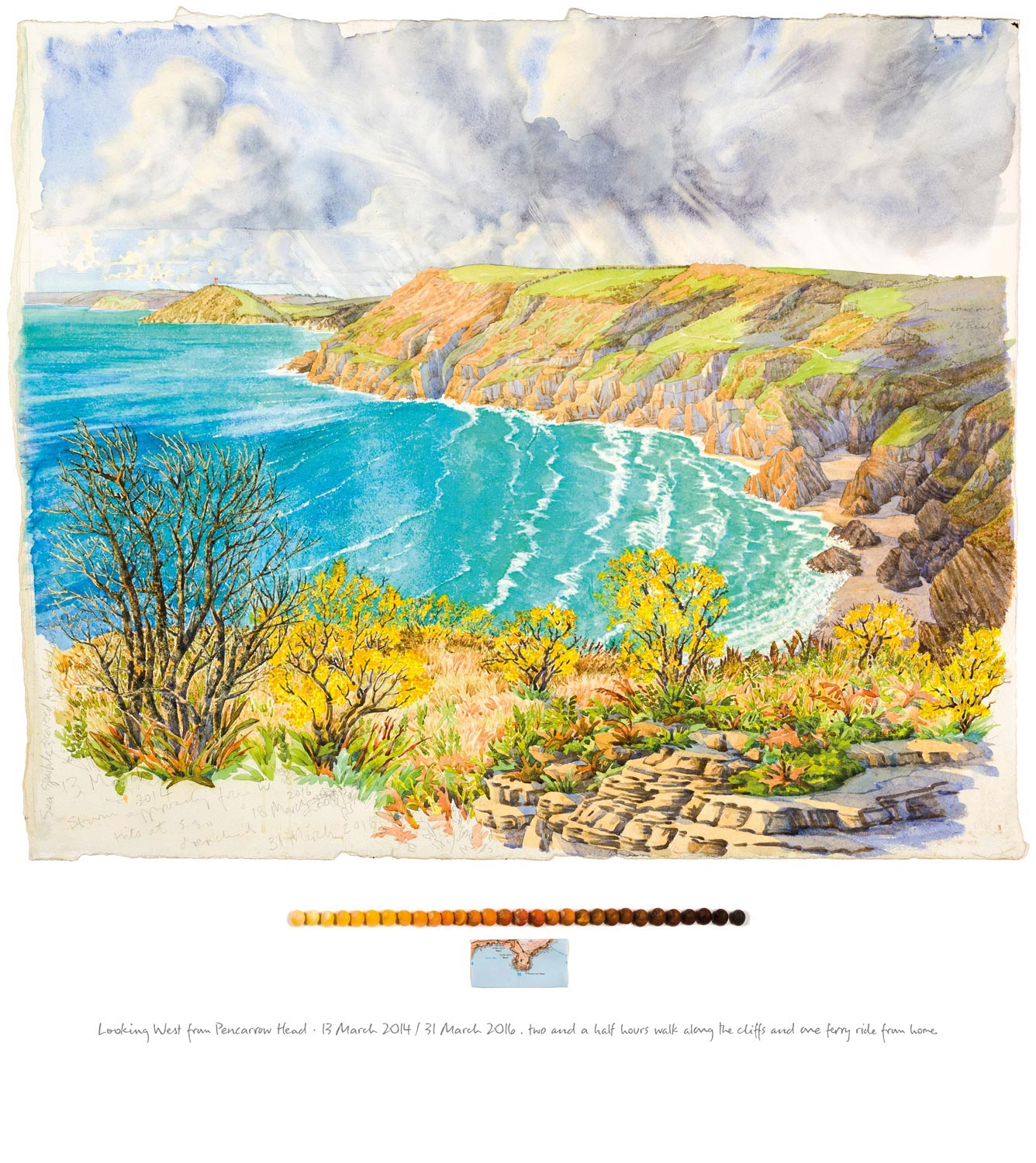 Tony Foster ,  Looking West from Pencarrow Head , 2016