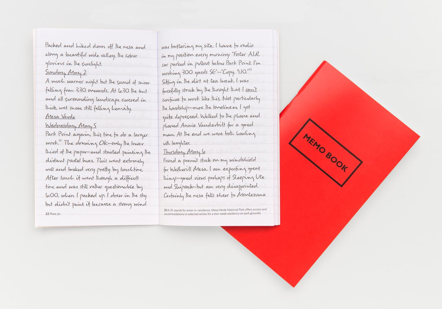 A recreation of Tony's journal with excerpts from his  Sacred Places  entries. A blank replica of this journal is also included for your own note taking. 3.875 x 6.25 in. 80 pages each.